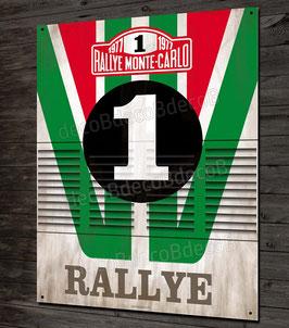 Plaque métal déco patinée Rallye Lancia stratos Alitalia team, Rallye Monte Carlo