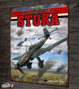 Plaque métal déco Junkers JU 87 STUKA Bombardier en piqué WW2 Fighter