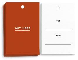 """Geschenkanhänger """"Mit Liebe"""""""