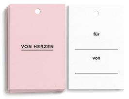 """Geschenkanhänger """"Von Herzen"""""""