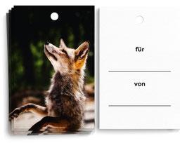 """Geschenkanhänger """"Fuchs"""""""