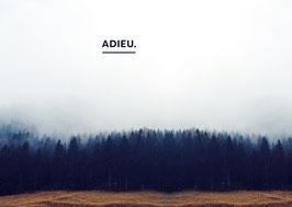 "Postkarte ""Adieu"""