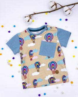 T- Shirt Heißluftballon mit Brusttasche
