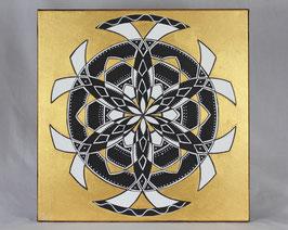 Fleur Alchimique soleil d'or 8