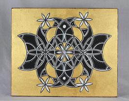 Fleur Alchimique soleil d'or 11
