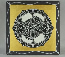Fleur Alchimique soleil d'or 19