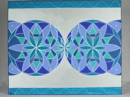Fleur Alchimique lune d'argent 7