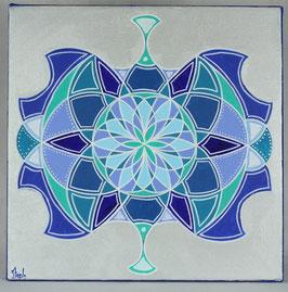 Fleur Alchimique lune d'argent 1
