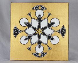 Fleur Alchimique soleil d'or 9