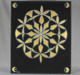 Fleur Alchimique soleil d'or 16