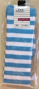 Kniestrümpfe Blau/Weiß