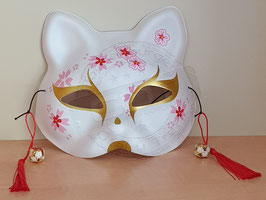 Katzenmaske Weiß