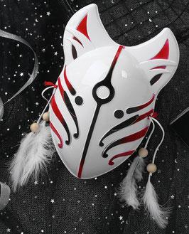 Fuchs Maske Rot Schwarz