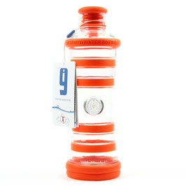 i9 Inspiration - bottle orange - Trinkflasche aus Glas
