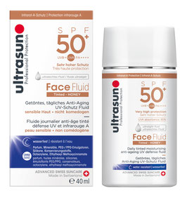 Ultrasun Face Fluid SPF50+ Tinted HONEY 40 ml - pcode 7286554