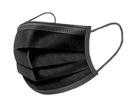 Hochwertige Hygienemaske Typ IIR BFE 98% Schwarz