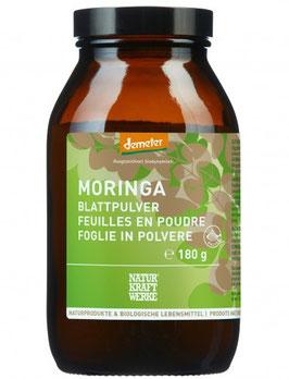 Naturkraftwerke Moringa Blattpulver, Demeter, Glas 180g