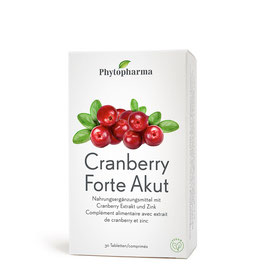 Phytopharma Cranberry Forte Akut Tabletten, 30 - pcode 7689045