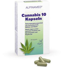 ALPINAMED Cannabis 10 Kapseln, 60 Kapseln