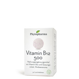 Phytopharma Vitamin B12 500, 30 Lutschtabletten - pcode 7784465