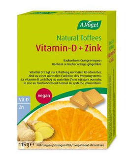 Natural Toffees Vitamin-D+Zink - pcode 4901220