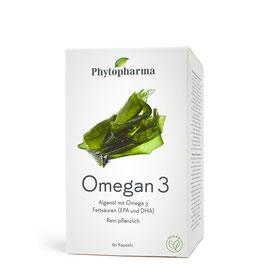 Phytopharma Omegan 3 Algenöl Kapseln, 60 - pcode 6810467