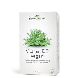 Phytopharma Vitamin D3 vegan, 60 Tabletten - pcode 7790165