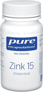 PURE Zink 15 Zinkpicolinat, 60 Kapseln - pcode 7579285