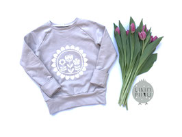 Sweater Scandi Flower 104/110