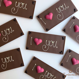 "Chocolade reep ""I love you"""