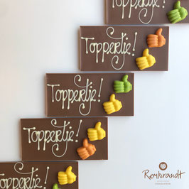 "Chocolade reep ""Toppertje!"""
