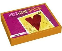 Herzliche Grüße - Postkarten Herzmotive