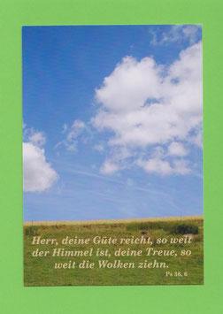 Grußkarte - Bibelwort (Ps 36,6)