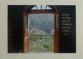 Grußkarte - Bibelwort (Joh 14,6)