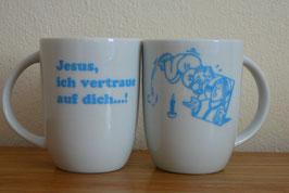 Tasse - Jesus ich vertraue auf dich...!
