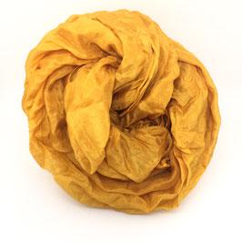 Sciarpa di seta pongee 180x55 cipolla gialla