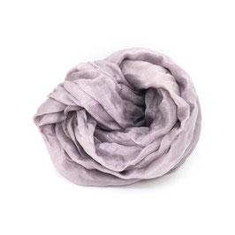 Sciarpa di seta pongee 130x28 viola chiaro campeggio