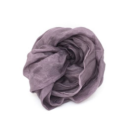 Sciarpa di seta pongee 130x28 viola scuro campeggio