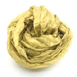 Sciarpa di seta pongee 180x55 mirto bacche e foglie