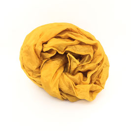 Sciarpa di seta pongee 130x28 cipolla gialla