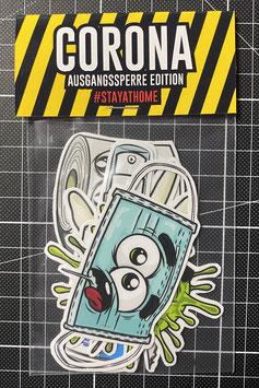 CORONA AUSGANGSSPERRE - Stickerpack
