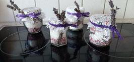 Selbstgemachte Lavendel - Badesalze