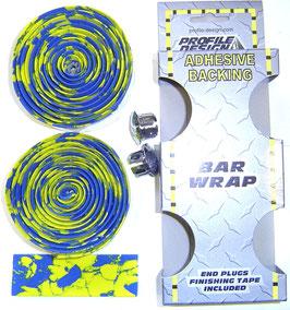 PROFILE DESIGN Lenkerband bar wrap gelb blau NEU