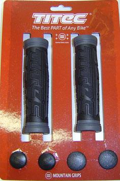 TITEC Griffe Gummi schwarz grau fahrrad -griffe