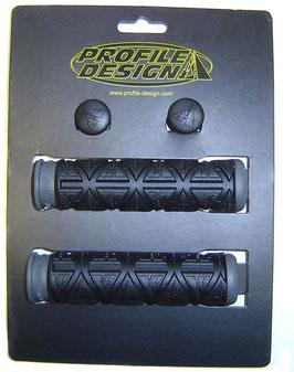 PROFILE DESIGN Double Griffe Gummi schwarz grau fahrrad -griffe