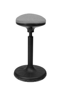 Höhenverstellbarer Sitzhocker W³  (grau-schwarz) Swiss Design