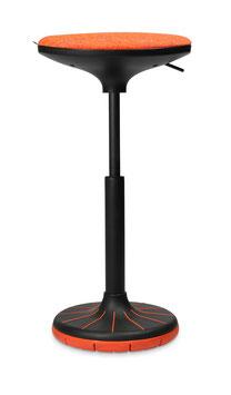 Höhenverstellbarer Sitzhocker W³  (hot chili)  Swiss Design