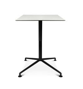 W-Table Lift, Tischplatte 80x80 oder 90x90mm, mit HPL-Platte weiss
