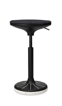 Höhenverstellbarer Sitzhocker W³  (black white) Swiss Design