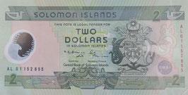 ソロモン諸島 2ドル 未使用